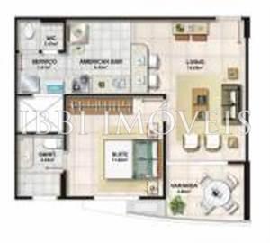 Apartamento quarto e sala no Jardim Armação